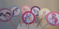 My Little Pony birthday party Cupcake toppers by KhloesKustomKreation