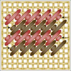 Hungarian Embroidery Stitch Easy Nobuko Stitch Diagram - Working the Nobuko and double alternating needlepoint stitches is easy. Learn how to use in your needlepoint projects in 10 minutes or less. Bargello Needlepoint, Needlepoint Stitches, Needlepoint Canvases, Needlework, How To Needlepoint, Plastic Canvas Stitches, Plastic Canvas Crafts, Plastic Canvas Patterns, Cross Stitching