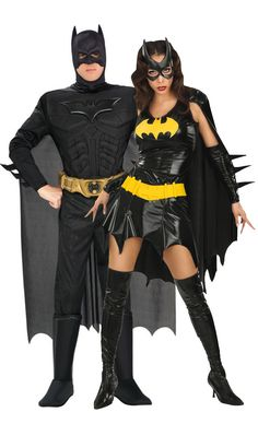 Batman and Batgirl – The Dark Knight couples' Halloween costumes. Costume Halloween, Costume Batgirl, Halloween Outfits, Superhero Couples Costumes, Batman Costumes, Best Couples Costumes, Duo Costumes, Super Hero Costumes, Batman And Batgirl