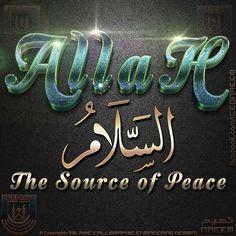 Beautiful Names Of Allah, Quran, Islam, Arabic Calligraphy, Peace, My Love, Arabic Calligraphy Art, World
