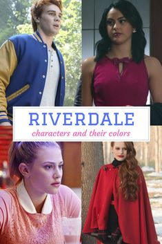 Color means everything to Riverdale characters. Check out who's wearing what on the CW TV show. The Cw Tv Shows, Cw Tv Series, Riverdale Characters, Jane The Virgin, American Gods, Color Profile, Classic Tv, Colors, Check