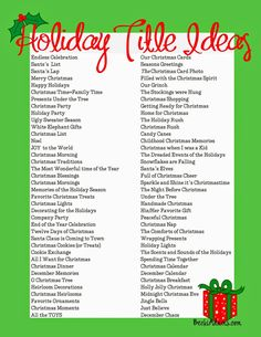Becki Adams Designs: 76 Holiday Page Title Ideas