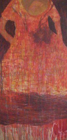Valérie Belmokhtar - Robe Heliade - 2009 Painting on canvas http://vbelmokhtar.free.fr/