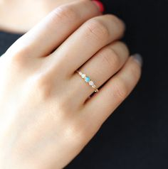 This listing is only for turquoise diamond ring, NOT INCLUDE wedding band on listing price>  -14k solid gold bezel diamond with natural turquoise