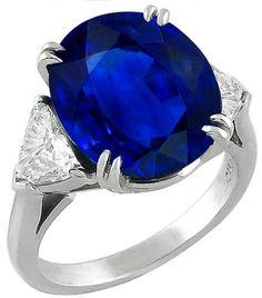 9.00ct Sapphire 0.80ct Diamond Ring