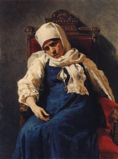 "Ilya Repin: ""Portrait of actress Pelageya Antipevna Strepetova in the role of Elizabeth"", 1881, oil on canvas, Dimensions: 112 × 84 cm (44.1 × 33.1 in), Current location: Tretyakov Gallery, Moscow."