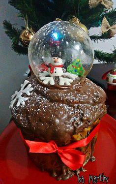 Chocotone trufado decorado com bolha de gelatina!