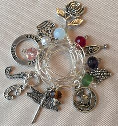 Dragonfly in Amber Outlander 2 themed wine charm by DesignsByDodie
