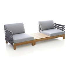 Party 2 Seat Sectional with Coffee Table Paola Navone Collection I Crate and Barrel