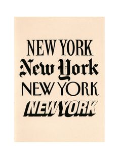 Same words different brands - New York Observer, New York Times, The New Yorker, New York Post. Typographie Fonts, Typographie Inspiration, A New York Minute, City People, Empire State Of Mind, I Love Ny, City That Never Sleeps, New York Post, Concrete Jungle