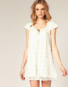 Vestido renda branca
