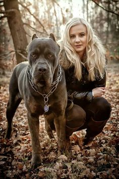 #Cane #Corso and a girl