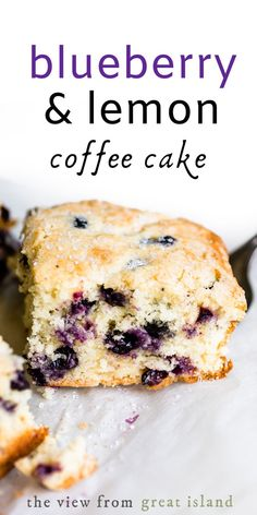 My Blueberry Lemon Breakfast Cake is a light and fluffy coffee cake bursting with juicy blueberries. Perfect for Easter or Mother's Day brunch! Lemon Coffee Cake Recipe, Blueberry Lemon Coffee Cake, Buttermilk Coffee Cake, Blueberry Breakfast, Breakfast Cake, Breakfast Ideas, Breakfast Recipes, Homemade Cake Recipes, Easy Bread Recipes