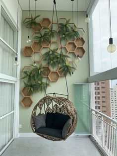 Pin on Jardim vertical Small Balcony Design, Small Balcony Garden, Small Balcony Decor, Home Garden Design, Home Room Design, House Plants Decor, Plant Decor, Deco Studio, Apartment Balcony Decorating