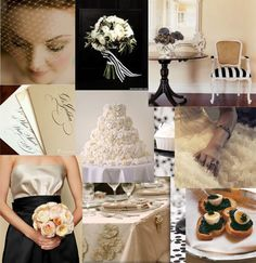 Black Taupe and White wedding inspiration   Found for you by www.astrabridal.co.nz  