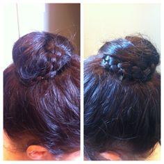 Braided bun I did this weekend. So simple.