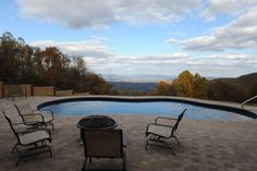 Look at that view!  Blue skies and gorgeous rural setting!  Fox Pool