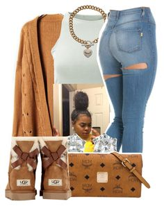""""" by lookatimani ❤ liked on Polyvore featuring American Apparel, Juicy Couture, MCM and UGG Australia"