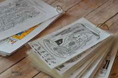 DIY Hidden Pictures booklets - AWESOME for traveling with kids and doesn't require anything extra! No pens, markers, just good old-fashioned fun