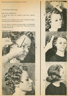 Vintage Hairstyles Tutorial There are plenty of setting patterns online for and hair. Here is a nice tutorial from Set 'n Style and how to use those se. 1970s Hairstyles, Vintage Hairstyles Tutorial, School Hairstyles, Pin Up Hair, Big Hair, Vintage Waves Hair, Wet Set, Hair Patterns, Medium Long Hair