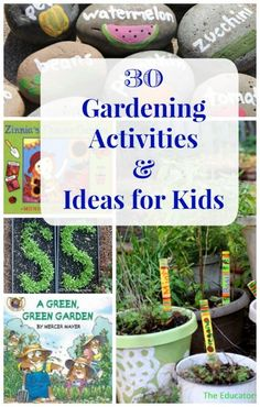 Kids Garden Guide -- ideas for what to plant, how to get started and fun garden activities!  Gardening with kids | life sciences | plant activities for kids
