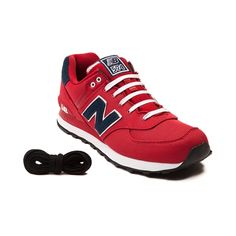 Shop for Mens New Balance 574 Athletic Shoe in Red Navy at Journeys Shoes. Shop