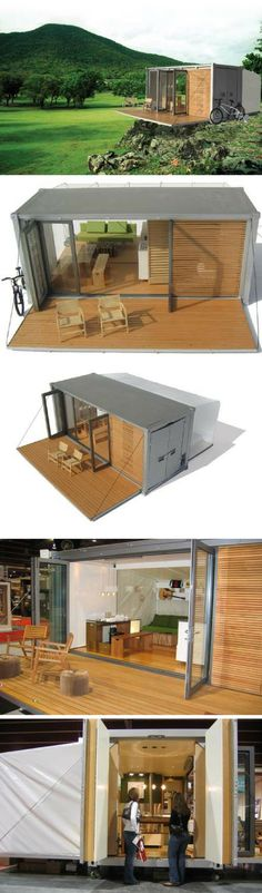 - Who Else Wants Simple Step-By-Step Plans To Design And Build A Container Home From Scratch? Building A Container Home, Container Buildings, Container Architecture, Architecture Design, Container Design, Shipping Container Homes, Modular Homes, Tiny House Design, Little Houses