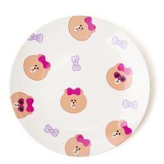 Line Friends Official Goods Choco Melamine Dinner dessert Plate Dish M Size  #LineFriends