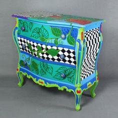 Chest of drawers Flora Alice in Wonderland furniture by ArtPoPo