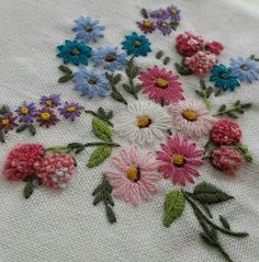 Medical Embroidery Near Me Bullion Embroidery, Hand Embroidery Flowers, Hardanger Embroidery, Simple Embroidery, Hand Embroidery Stitches, Silk Ribbon Embroidery, Hand Embroidery Designs, Beaded Embroidery, Cross Stitch Embroidery