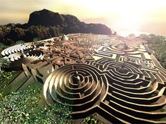 Computer generated, prize winning 3d maze