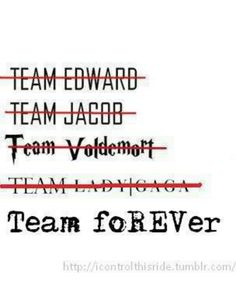 Still Team Jacob. I was never on any other of this teams except of course team foREVer