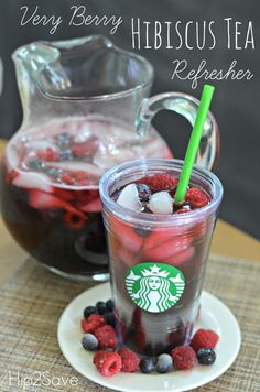 Very berry hibiscus tea refresher. Leave out hibiscus and try with decaf black tea for low fodmap? #Tea #GreenTea