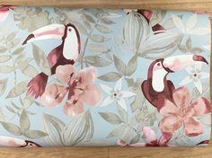 Toucan wallpaper duck egg