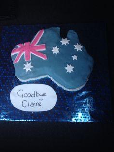 Australia leaving cake