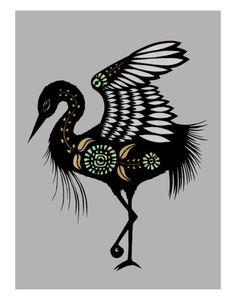 Scandinavian bird print..