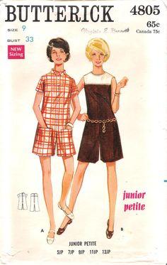 Pantdress Butterick 4805 Mod Sewing Pattern