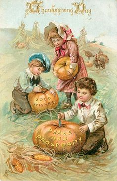 Thanksgiving paper dolls and vintage post cards - Bobe Green - Álbumes web de Picasa Thanksgiving Greeting Cards, Thanksgiving Blessings, Vintage Thanksgiving, Vintage Fall, Thanksgiving Crafts, Vintage Holiday, Vintage Halloween, Fall Halloween, Happy Thanksgiving