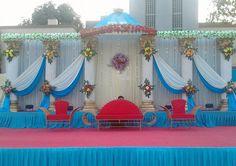 V k singh Wedding Stage Backdrop, Wedding Hall Decorations, Wedding Mandap, Flower Decorations, Wall Backdrops, Ideas Para Fiestas, Princess Wedding, Flower Bouquet Wedding, Weeding