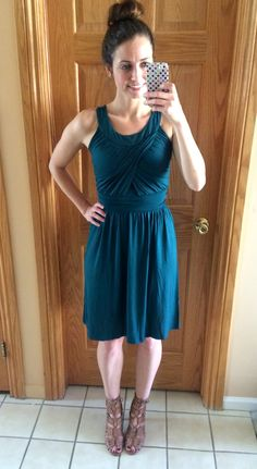 stitch fix gilli gillian sleeveless dress - teal is one of my favorite colors. I do really well with this type of dress.
