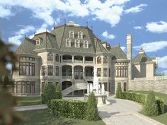 Luxury House Plans- French Home Design Chateau Novella # 14328 on imgfave Small Castles, Mega Mansions, Luxury House Plans, Luxury Floor Plans, Walk In Pantry, Big Houses, House Goals, My Dream Home, Dream Homes