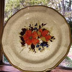 "Vintage mikasa 8"" plate.  https://www.etsy.com/listing/231375760/mikasa-garden-club-8-plate?ref=pr_shop"