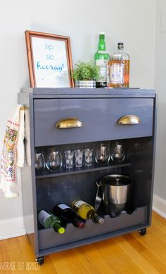 These DIY Ikea bar cart makeover tutorials will blow you away. Updating an inexpensive Ikea piece with a bit of paint and imagination is a budget-friendly way to create a custom piece.