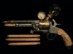 Steampunk vampire killer stake thrower gun.