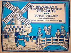 Vintage Paper Dolls Dutch Village 1920s Milton Bradley