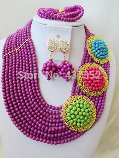 Find More Jewelry Sets Information about Fabulous! PurpleTurquoise 3 Brooches Costume Necklaces Nigerian Wedding African Beads Jewelry Set TC118,High Quality Jewelry Sets from Alisa's Jewelry DIY Store on Aliexpress.com Diy Store, Costume Necklaces, African Beads, Turquoise Beads, Jewelry Sets, Crochet Necklace, Brooches, Jewels, Amazing