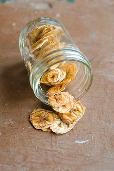 banana chips (in toaster oven!)