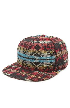 pacsun Navajo inspired snap back | visit the thesaucesuppliers.com for custom made snap back and custom headwear inspiration
