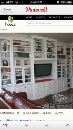 Ideas for built-in entertainment centers