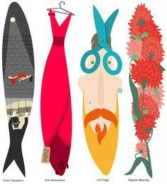 Art Textile, Portugal, Pet Mat, Fish Art, Sea World, Handmade Design, Beyond Beauty, Character Illustration, Cute Art